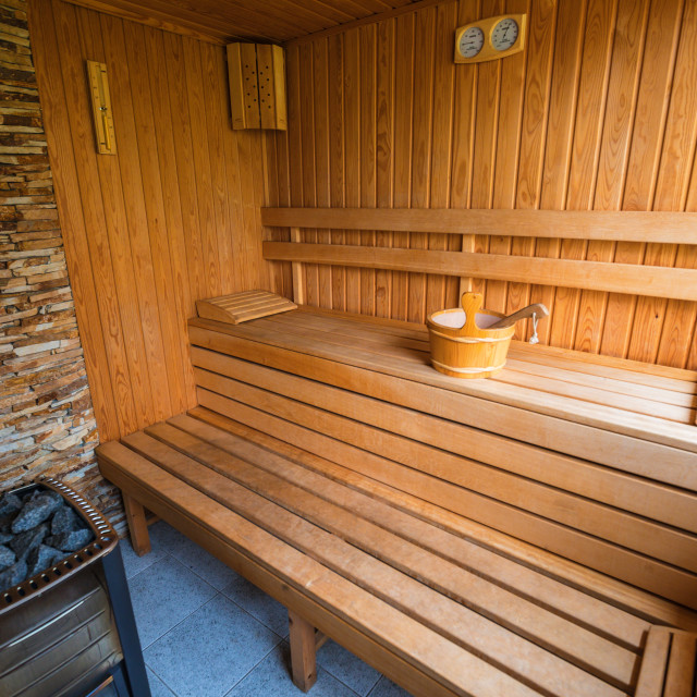 """Sauna for aroma therapy"" stock image"