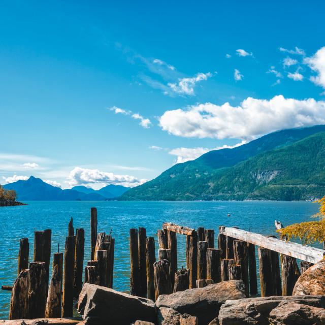 """How Sound near Fury Creek near Squamish, British Columbia, Canada, North America"" stock image"