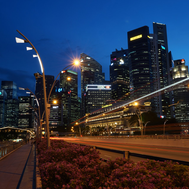 """""""Financial District at dusk, Singapore"""" stock image"""