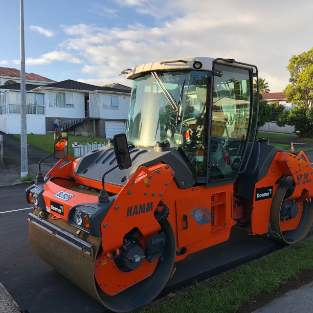 """""""Road Roller Compactor Auckland"""" stock image"""