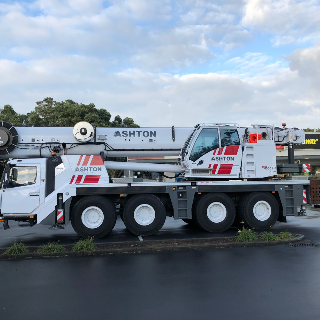 """""""Truck Mounted Boom Crane Auckland"""" stock image"""