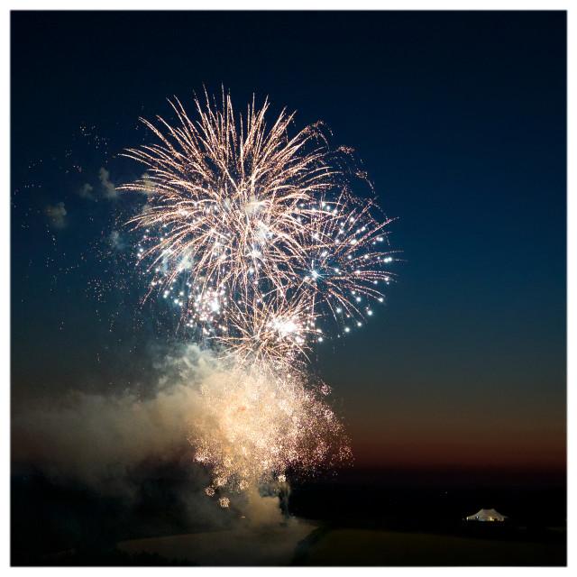 """""""Cornish Wedding Fireworks"""" stock image"""