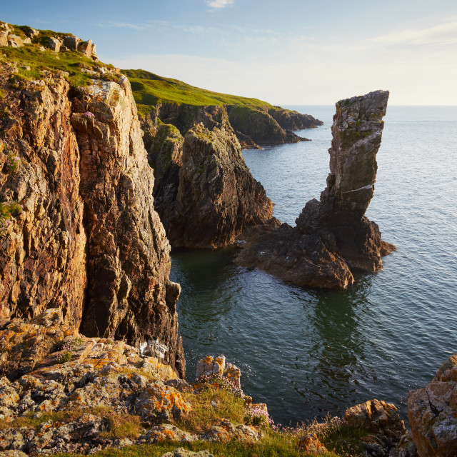 """Soldier Rock, Islay"" stock image"
