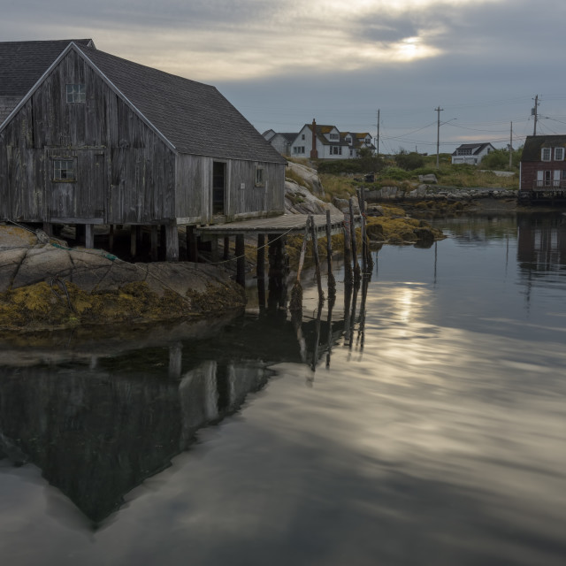 """Early Morning at Peggys Cove"" stock image"