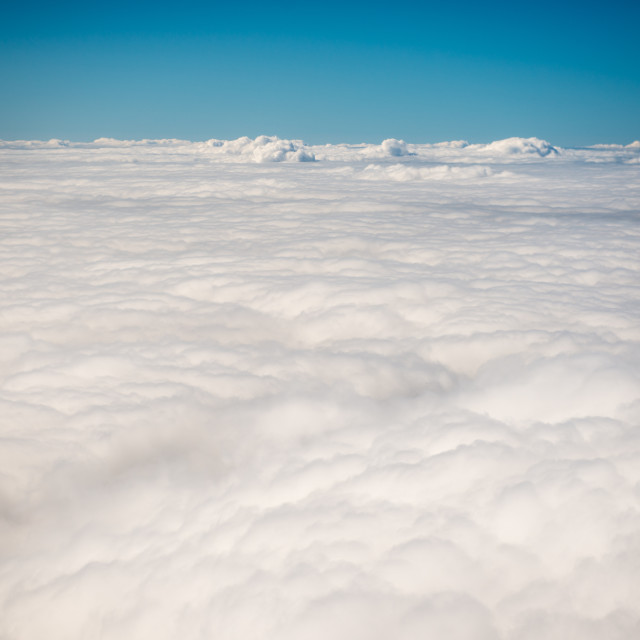 """View above clouds"" stock image"