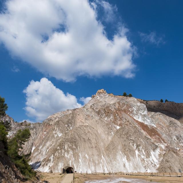 """""""Salt mountain in Cardona"""" stock image"""