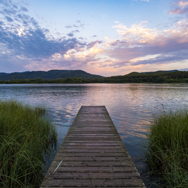"""""""Lake in Catalonia Spain"""" stock image"""