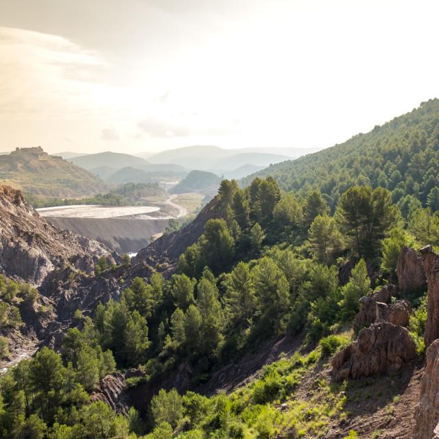 """""""Landscape in Cardona Spain"""" stock image"""