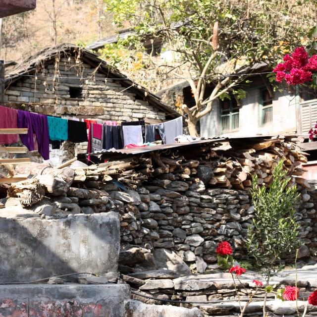 """Annapurna region village"" stock image"