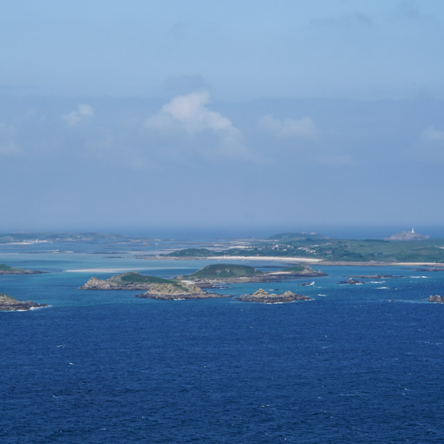 """Aerial Isles of Scilly"" stock image"