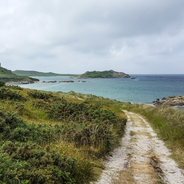 """Coastal path on St Martin's, Isles of Scilly"" stock image"