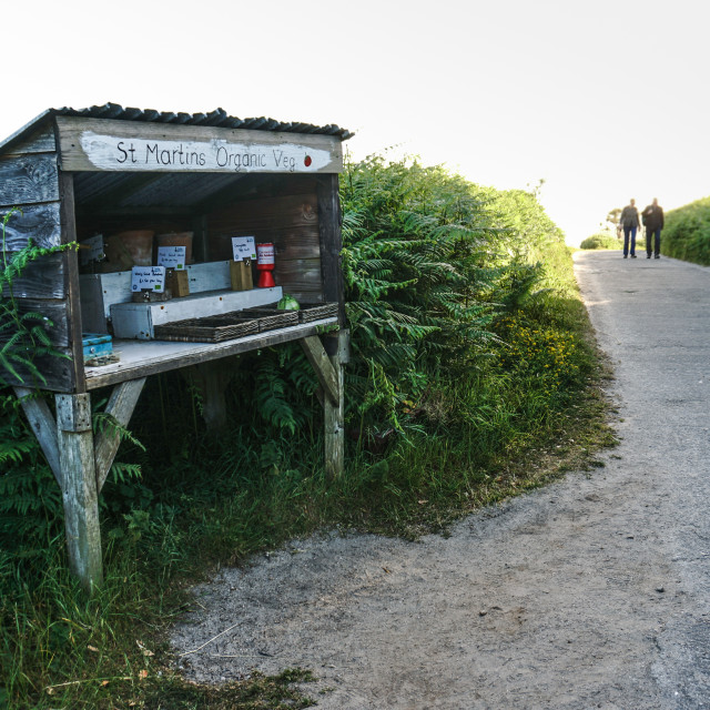 """An honesty box on Isles of Scilly"" stock image"