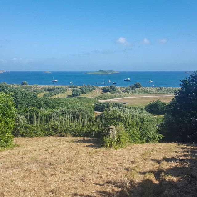 """A view out to sea, Isles of Scilly"" stock image"