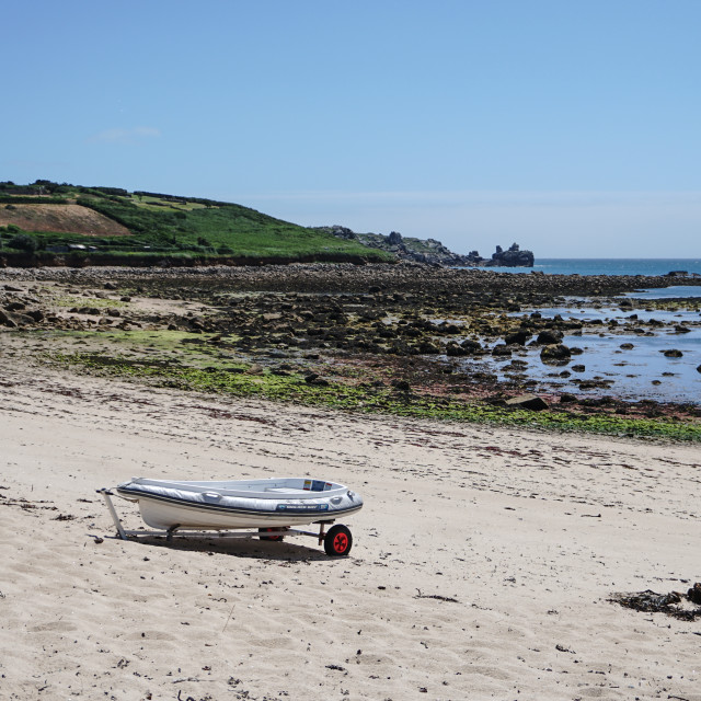 """Portcressa beach, Isles of Scilly"" stock image"