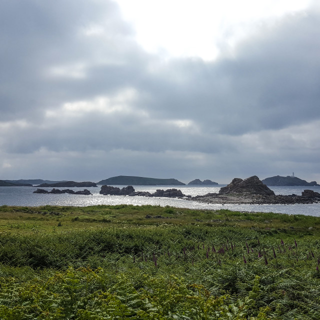 """Dramatic skies in Isles of Scilly"" stock image"