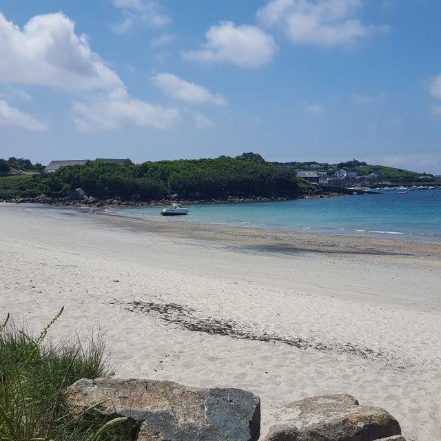 """St Martin's beach, Isles of Scilly"" stock image"