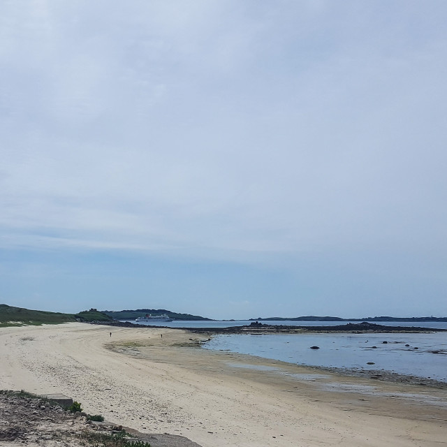 """Beach on Tresco, Isles of Scilly"" stock image"