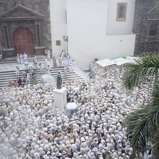"""""""Los Indianos carnival, La Palma, 2018"""" stock image"""