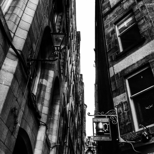 """Edinburgh off the Royal Mile"" stock image"