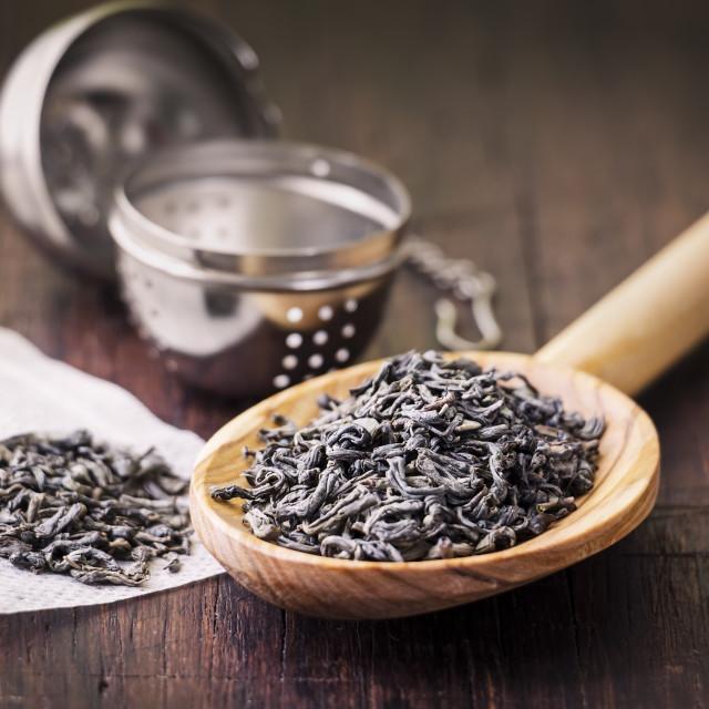 """""""Utensils for preparing tea on the table"""" stock image"""