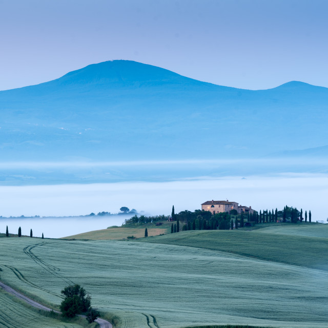 """The beauty of the Val D'orcia in Tuscany , Italy"" stock image"