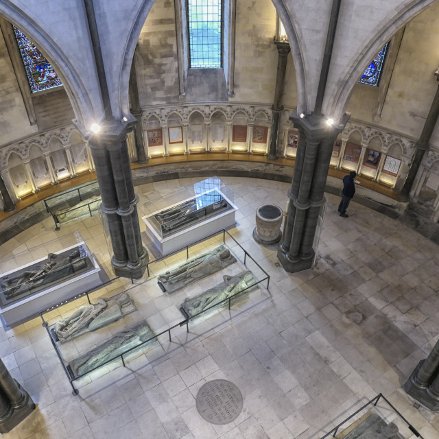 """""""Knights Templar sarcophaguses in London"""" stock image"""