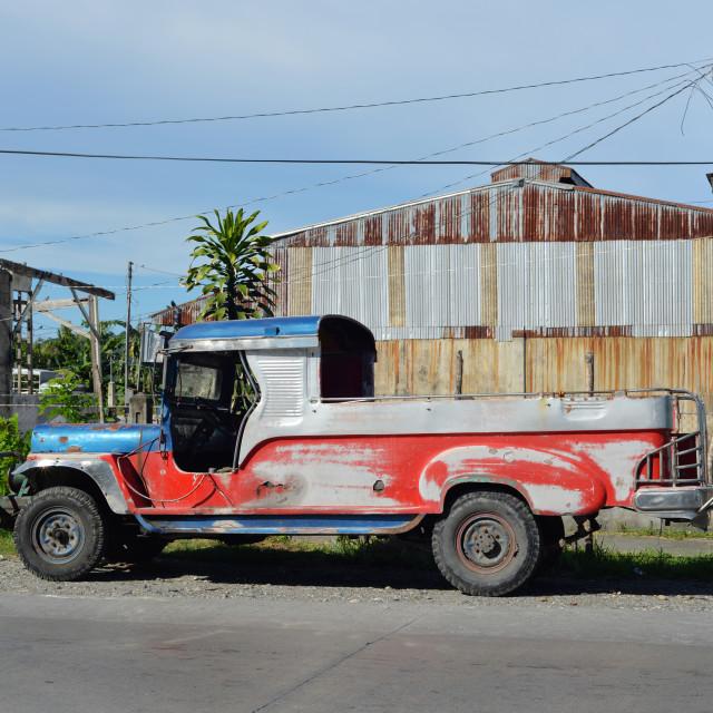 """""""undecorated jeepney"""" stock image"""