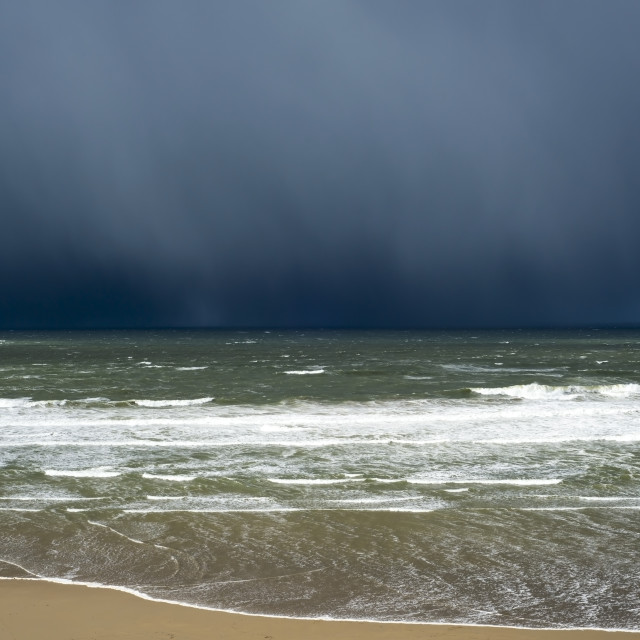 """winter rain storm approaching cliff"" stock image"