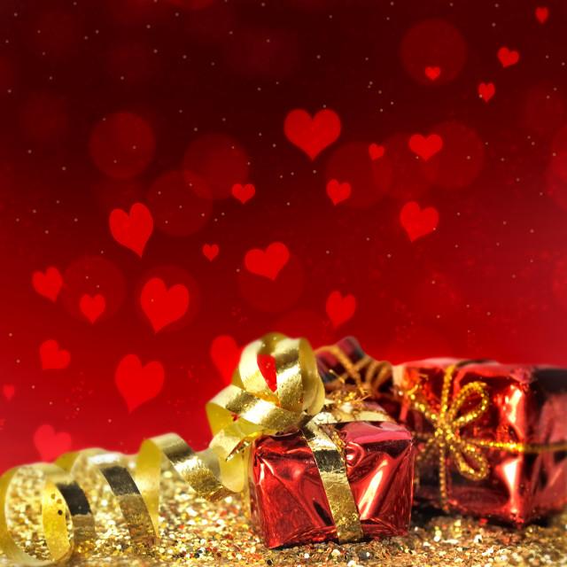 """romantic christmas gift in glitter"" stock image"