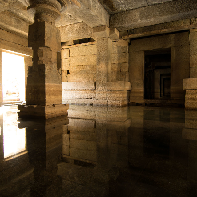 """Ancient hindu temple in Hampi heritage park in Karnataka, India."" stock image"