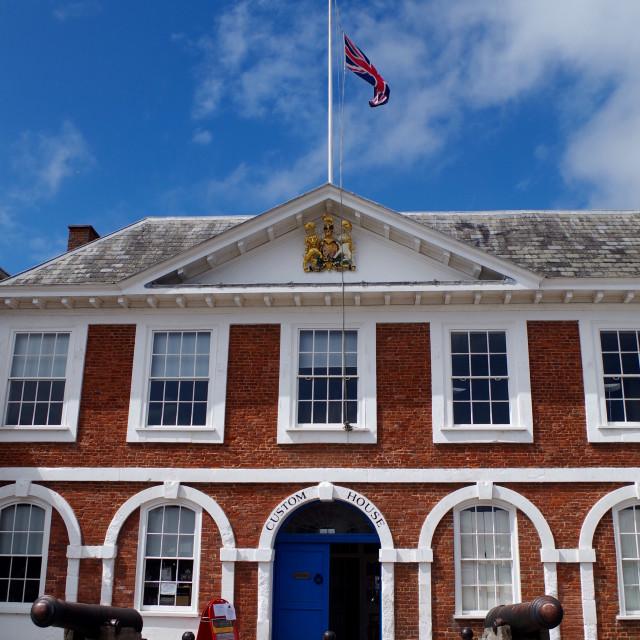 """Exeter Custom House."" stock image"
