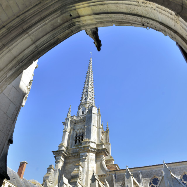 """""""exterior of a cathedral"""" stock image"""
