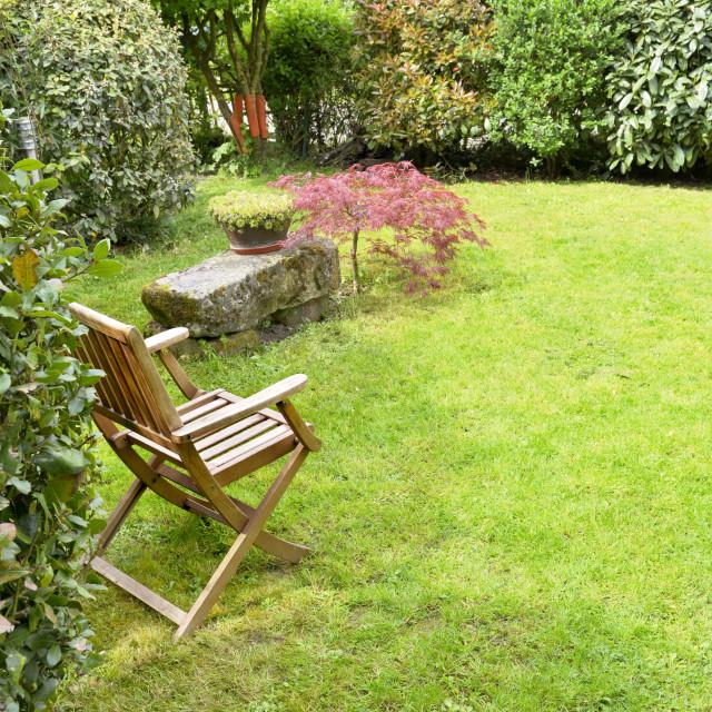 """""""countryside ornamental garden"""" stock image"""