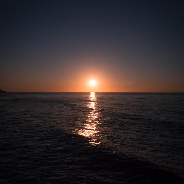 """""""sunset on the coast"""" stock image"""