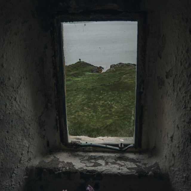 """A window to Scotland"" stock image"