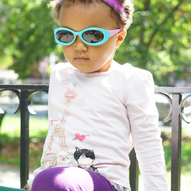 """""""Toddler In Sunglasses"""" stock image"""