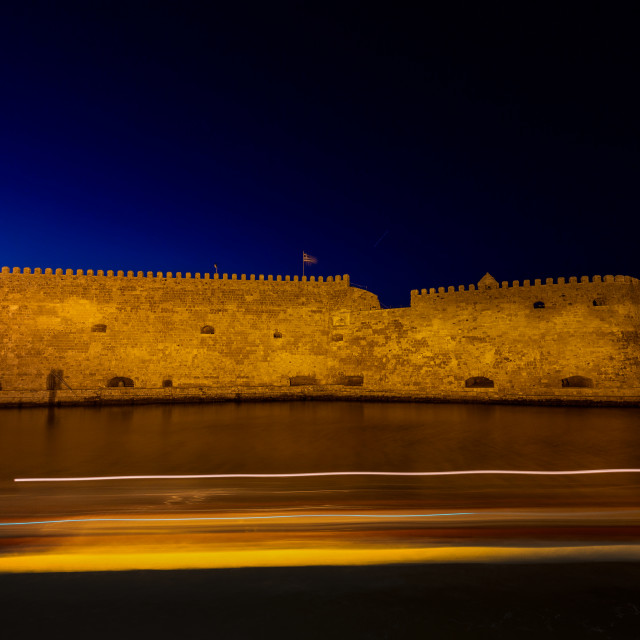 """Heraklion Crete - Castle ""Koules"""" stock image"
