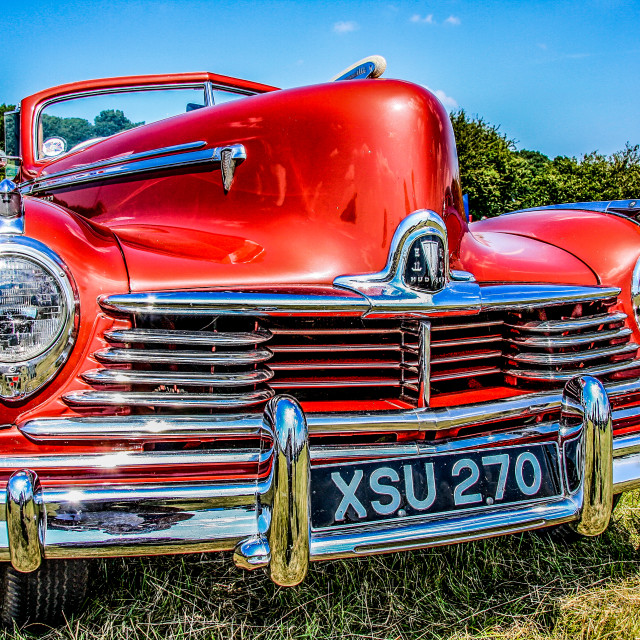 """Red & Chrome"" stock image"