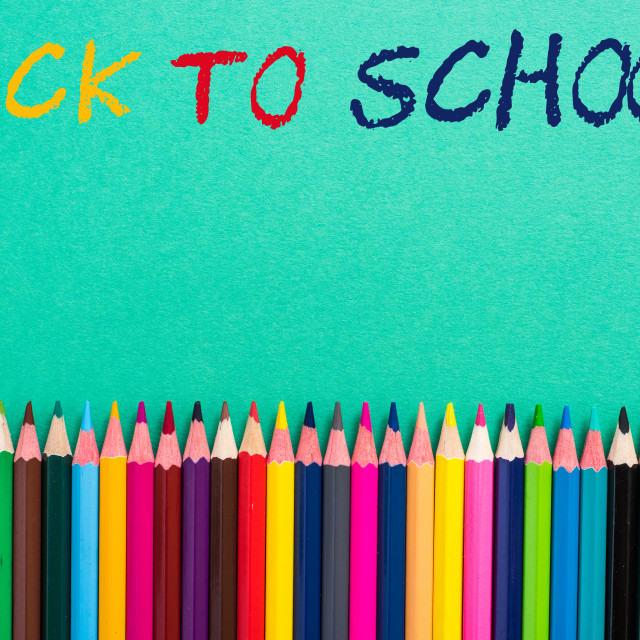 """pencils frame colorful background"" stock image"