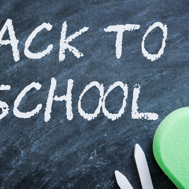 """""""chalkboard in classroom background"""" stock image"""