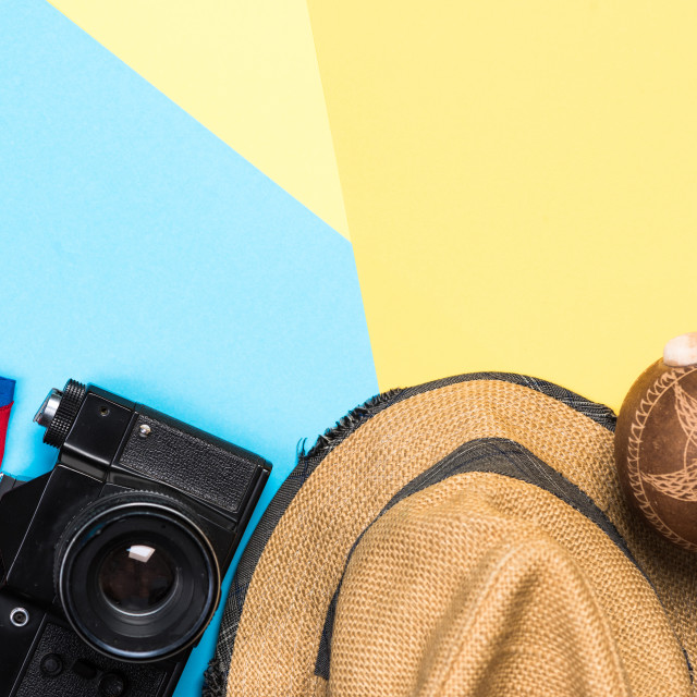 """""""Vintage items related to exotic vacations in Cuba"""" stock image"""
