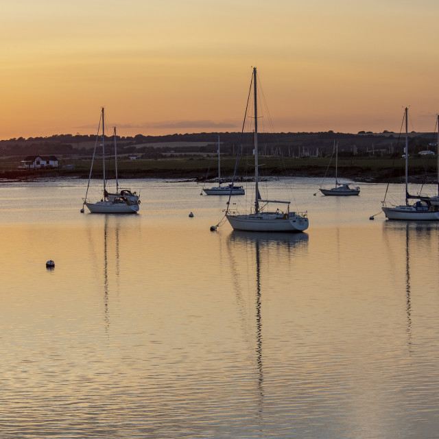 """Sunset at South Fambridge (II)"" stock image"