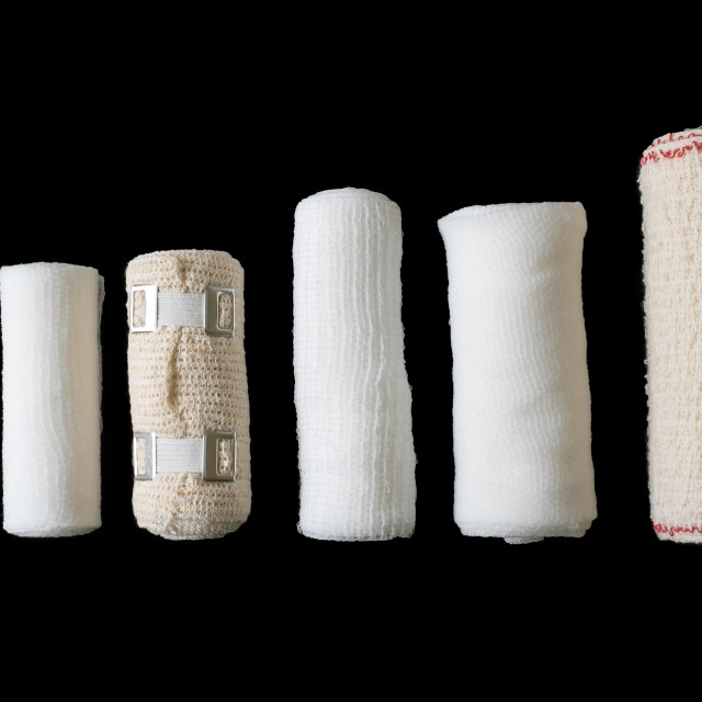 """Different sizes of medical bandages. Medical bandages isolated o"" stock image"
