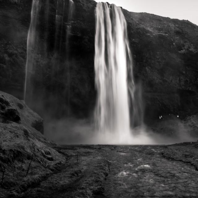 """""""seldjalandfoss waterfall- iceland"""" stock image"""