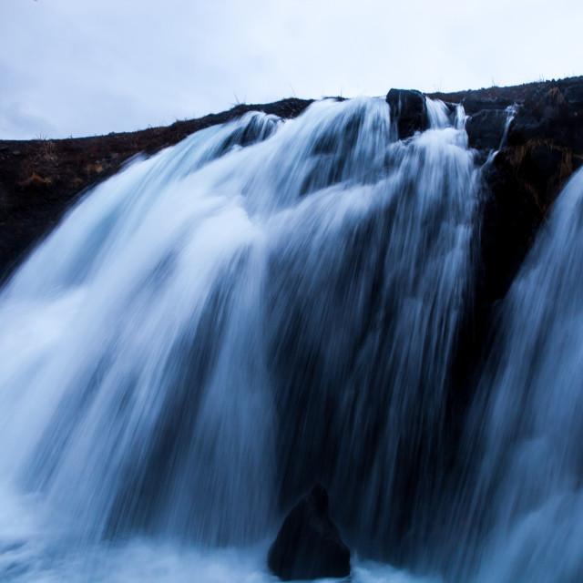 """Fossarrett waterfall - Iceland"" stock image"
