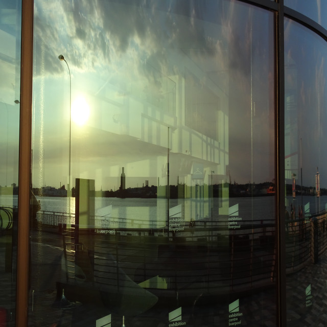 """Mersey Reflections"" stock image"