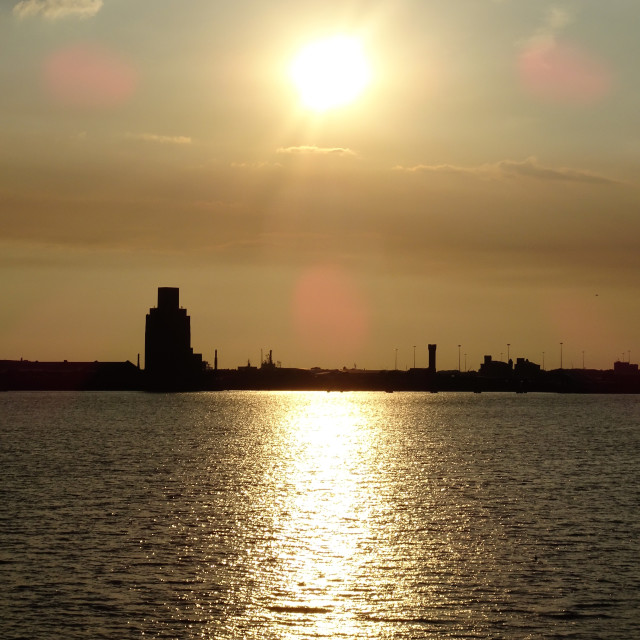 """Birkenhead Sunset"" stock image"