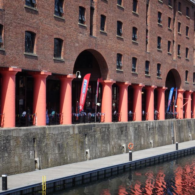 """Albert Dock Colonnades"" stock image"