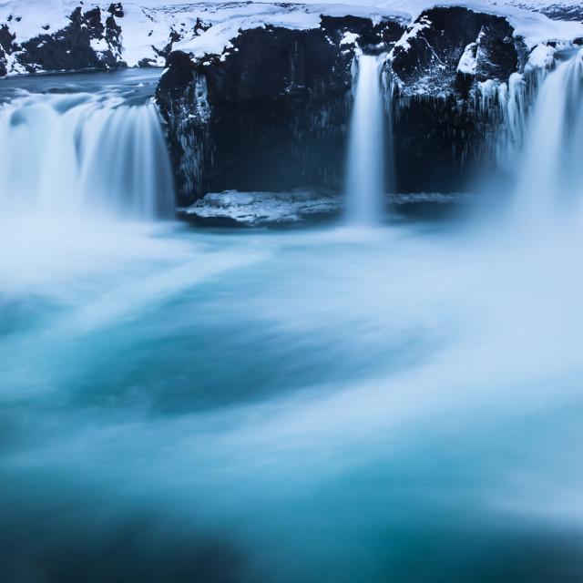 """Godafoss - waterfall -Iceland"" stock image"