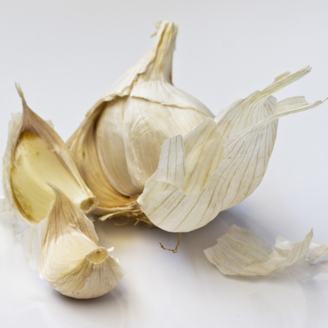 """Garlic cloves"" stock image"